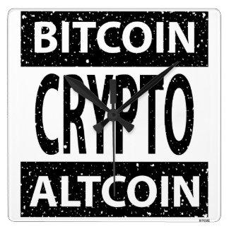 Bitcoin Altcoin Crypto Square Wall Clock