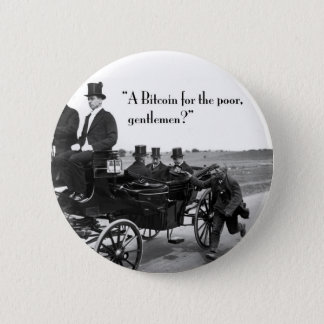 Bitcoin Beggar 6 Cm Round Badge