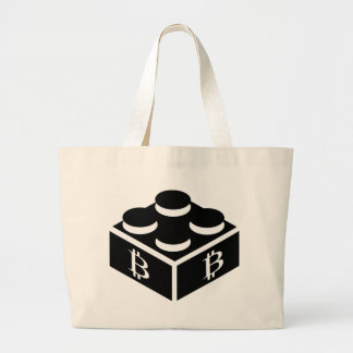 Bitcoin Block / Blockchain Large Tote Bag