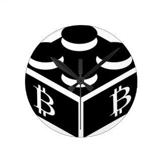 Bitcoin Block / Blockchain Round Clock