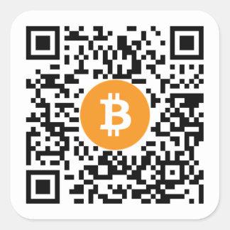 Bitcoin (BTC) Wallet QR Code Sticker - Square