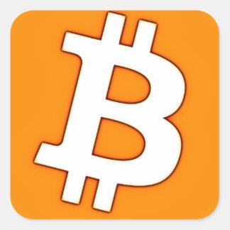 Bitcoin Cart Square Sticker