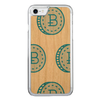 Bitcoin Case (Classy) - Cherry Wood (Blue stamped)