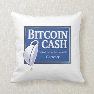 """Bitcoin Cash """"Good to the Last Satoshi"""" Pillows"""