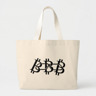 Bitcoin Chain Large Tote Bag