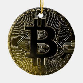 Bitcoin Coins Ceramic Ornament