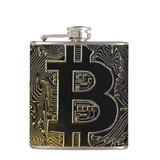 Bitcoin Coins Hip Flask