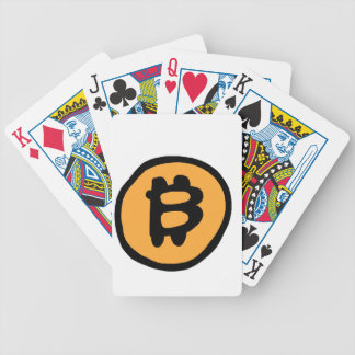 bitcoin collection bicycle playing cards
