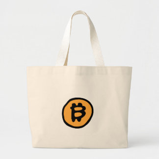 bitcoin collection large tote bag