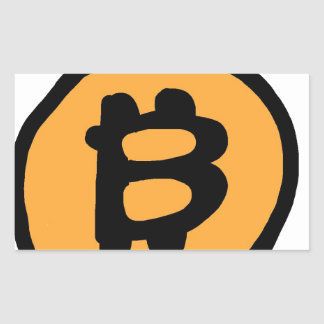 bitcoin collection rectangular sticker