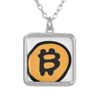 bitcoin collection silver plated necklace