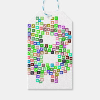 Bitcoin Commerce Icons Gift Tags