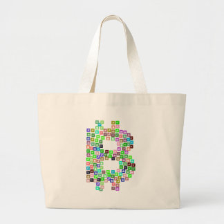 Bitcoin Commerce Icons Large Tote Bag