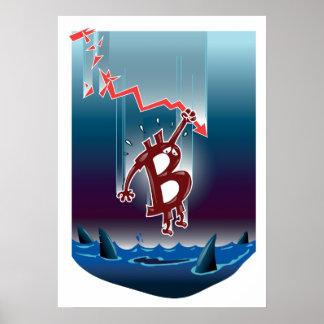 bitcoin crackdown into the dark waters cartoon poster