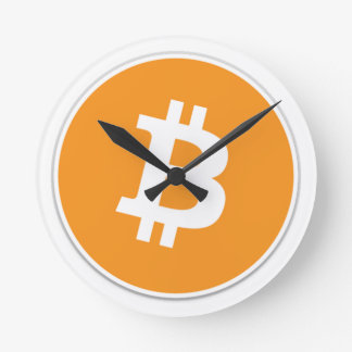 Bitcoin Crypto Currency - For the Bitcoin fans! Round Clock