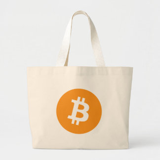 Bitcoin Crypto Currency Logo Large Tote Bag