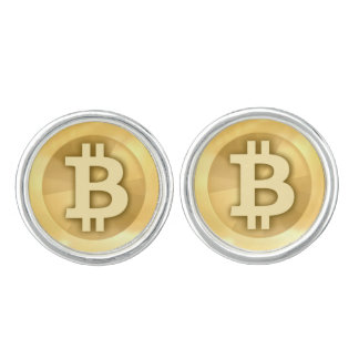 Bitcoin cryptocurrency cuff links
