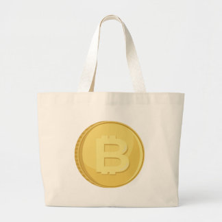Bitcoin Cryptocurrency Large Tote Bag