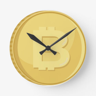 Bitcoin Cryptocurrency Round Clock