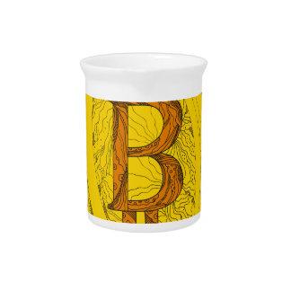 Bitcoin Doodle Art Pitcher