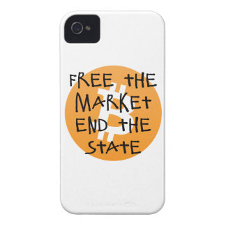 Bitcoin - Free the Market End the State Case-Mate iPhone 4 Cases
