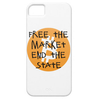 Bitcoin - Free the Market End the State iPhone 5 Case