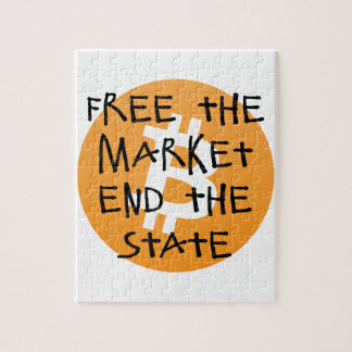 Bitcoin - Free the Market End the State Jigsaw Puzzle