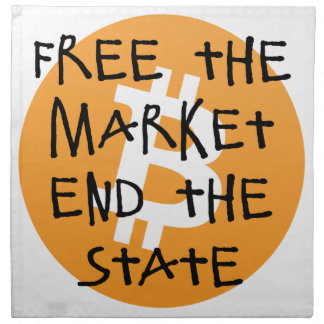 Bitcoin - Free the Market End the State Napkin