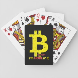 Bitcoin - I'm Hodln' It Playing Cards