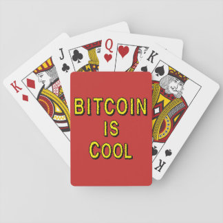 Bitcoin is Cool Playing Cards