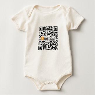 Bitcoin Logo and Address Baby Bodysuit