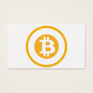 Bitcoin Logo Classic Style 1 Business Card