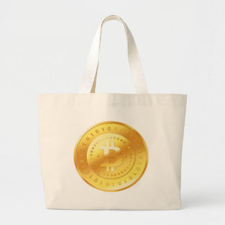 Bitcoin Logo Large Tote Bag