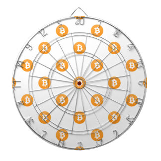 Bitcoin Logo Pattern Dartboard