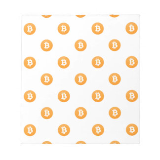 Bitcoin Logo Pattern Notepad