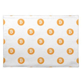 Bitcoin Logo Pattern Placemat