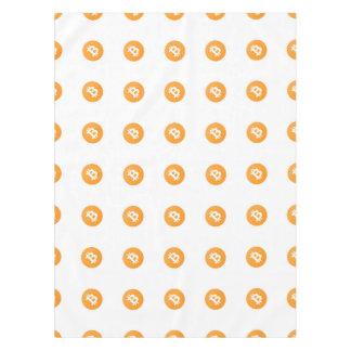 Bitcoin Logo Pattern Tablecloth