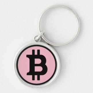 Bitcoin Logo Premium Round Key Chain