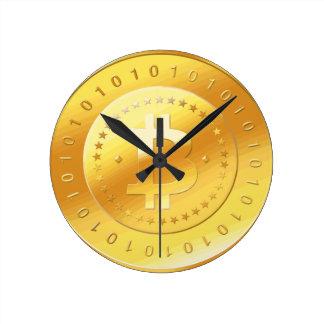 Bitcoin Logo Round Clock