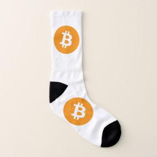 Bitcoin logo socks