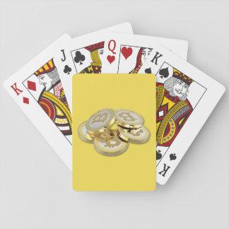 Bitcoin Logo Symbol Crypto Coins Playing Cards