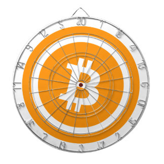 Bitcoin Logo Symbol Cryptocurrency Coin Dart Board