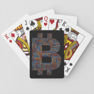 Bitcoin Logo Symbol Cryptocurrency Playing Cards