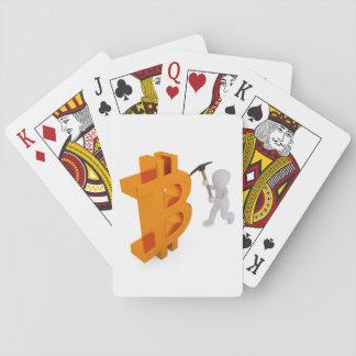 Bitcoin Logo Symbol Mining Miner Playing Cards