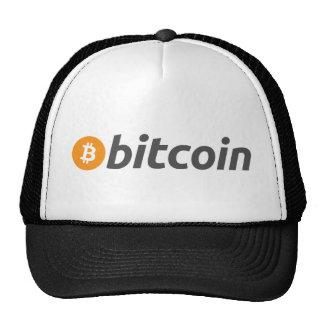 Bitcoin logo + text cap