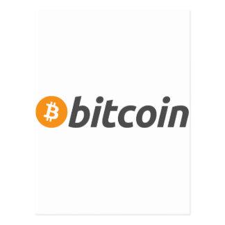 Bitcoin logo + text postcard