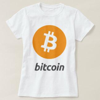 Bitcoin logo with text t shirts