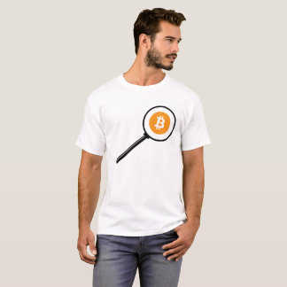 Bitcoin Magnifying Glass T-Shirt
