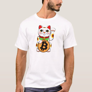 Bitcoin Maneki Neko Lucky Cat 01 T-Shirt