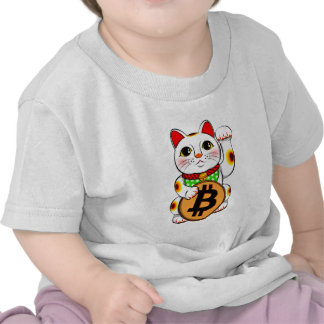Bitcoin Maneki Neko Lucky Cat 01 Tshirts